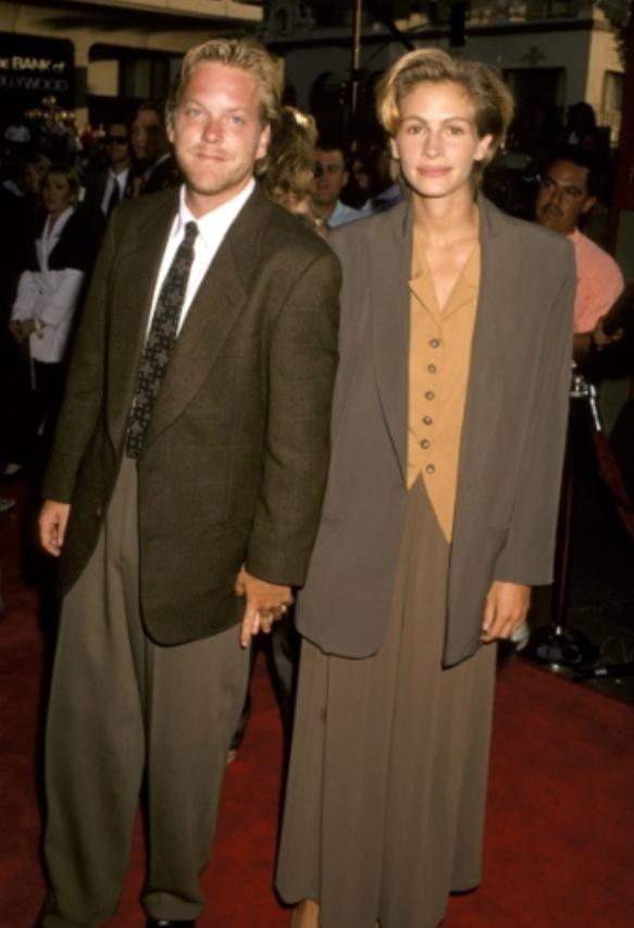Kiefer Sutherland & Julia Roberts, 1990