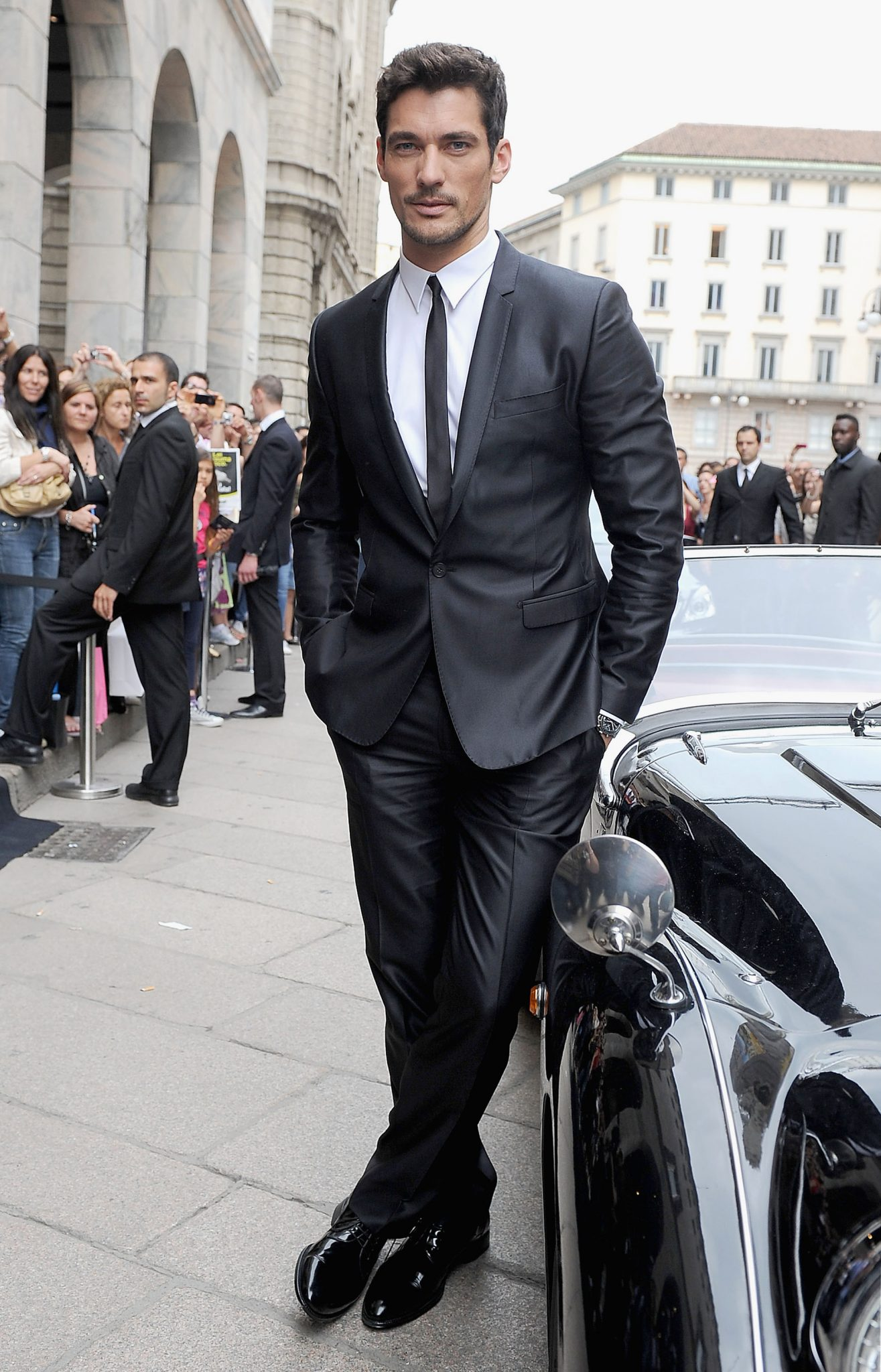 David Gandy A Day in Milan With Dolce & Gabbana - Milan Fashion Week Spring/Summer 2012