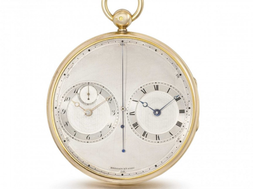 5. A Breguet Fils chronograph with two movements