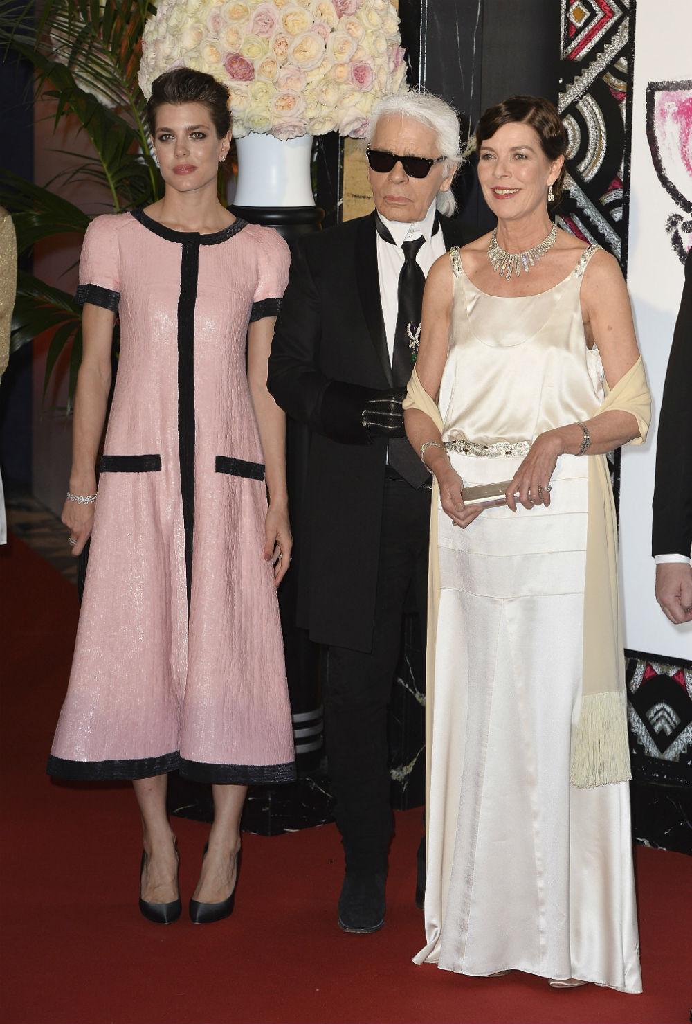 Caroline de Hanovre, Karl Lagerfild i Charlotte Casiraghi