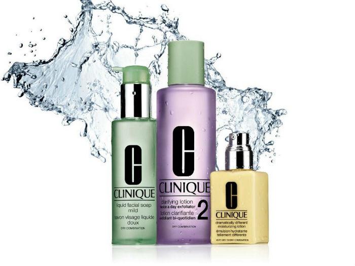 Clinique  LIQUID FACIAL SOAP MILD_Nježno čisti kožu i ostavlja je mekom i ugodnom na dodir. Ne isušuje kožu / Clinique  CLARIFYING LOTION 2_ Odstranjuje odumrle ćelije s površine kože, čisti i ostavlja ju mekom i ugodnom na dodir / Clinique DRAMATICALLY DIFFERENT MOISTURIZING GEL_Bogata hidratantni gel krema za cjelodnevnu hidrataciju i jačanje kože. Nanijeti dva puta na dan na cijelo lice i vrat ili gdje je potrebno.