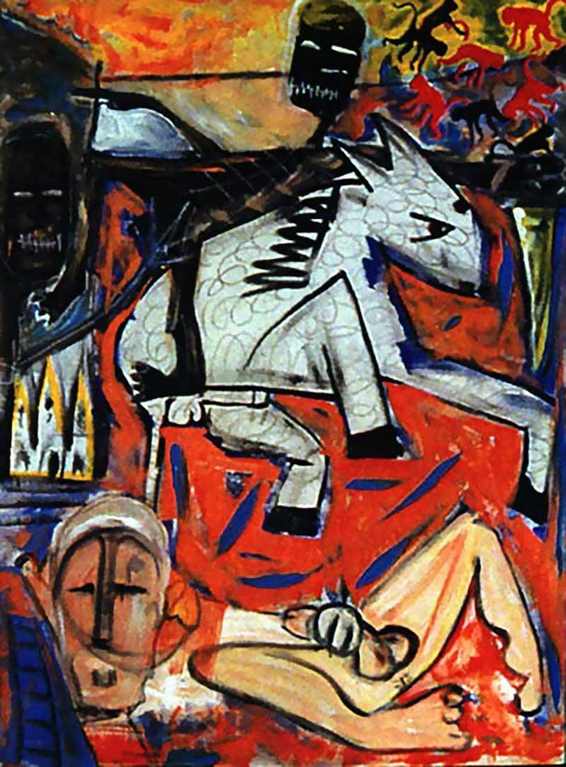 David-Bowie-paintings-The-rape-of-Bigarschol-1996