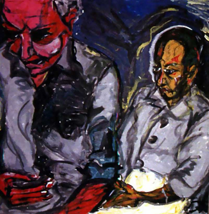 David-Bowie-paintings-Turkish-Father-and-Son-1978