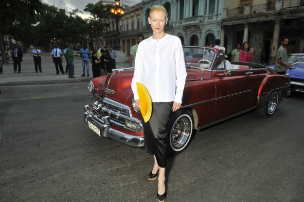 Cruise 2016-17 collection_Photocall pictures by Stephane Feugere_Tilda SWINTON
