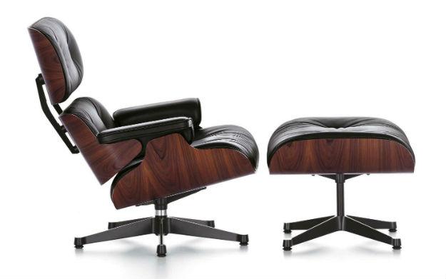 Stolica Eames Lounge Godina_1956. Materijal_šperploča, spužva i koža Originalna lokacija_Engleski klub i Herman Miller fabrika Dimenzije_84x92 cm