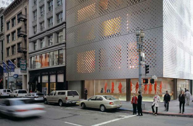 Prada San Francisco, 2000, sa osmišljenom fasadom se javlja novi pristup shoppinga