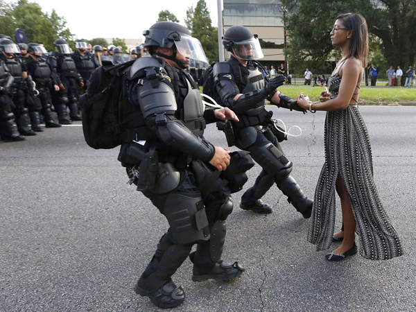 Ieshia Evans Baton Rouge LA USA 2016 (Photo Jonathan Bachman)