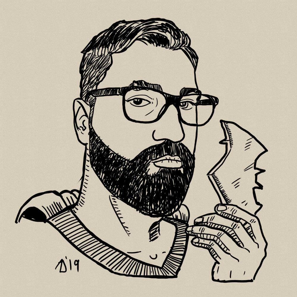 self-portret / ilustracija Admir Delić