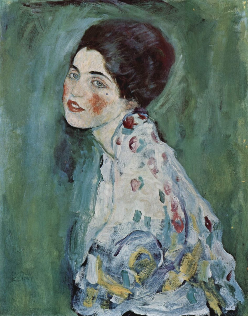 Portret dame, Gustav Klimt, 1916-1918