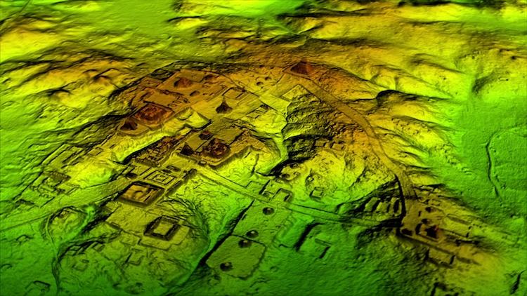 Peten, Guatemala, fotografija napravljena LiDar tehnologijom / fotogafija Wild Blue Media)