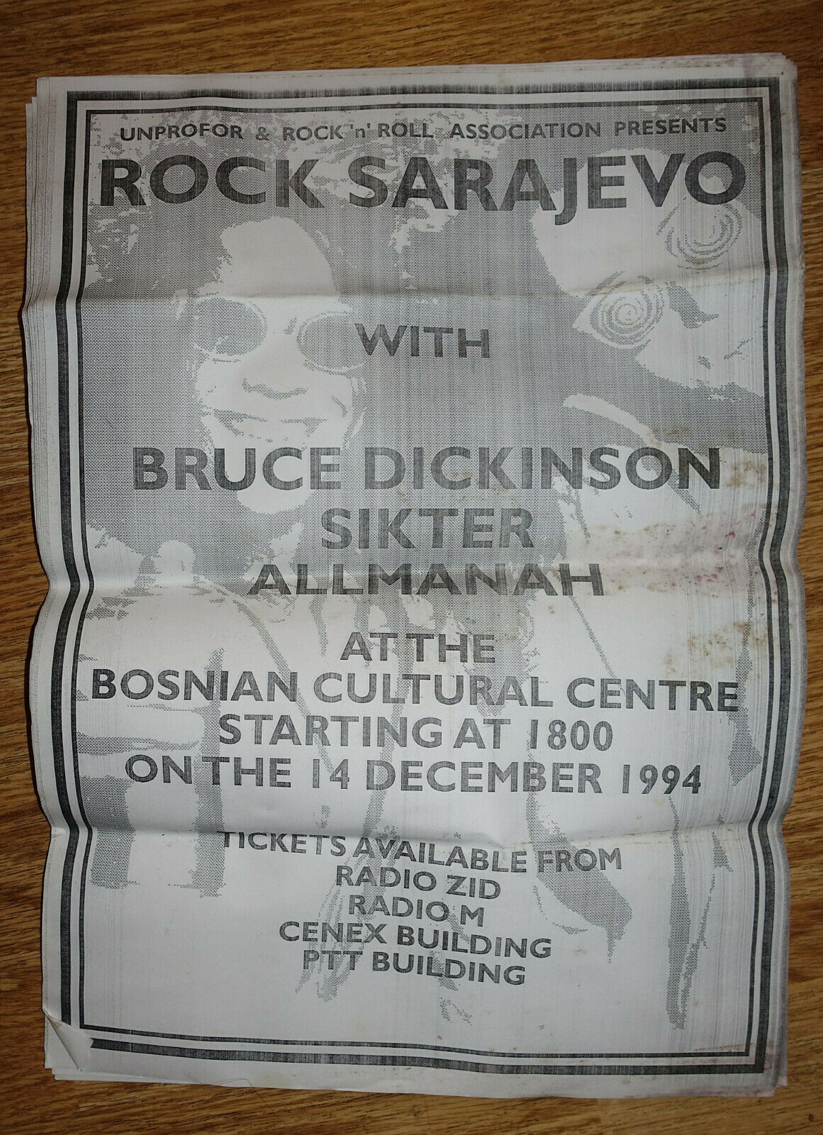 poster scream for me sarajevo